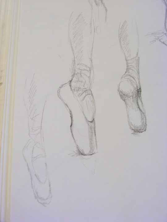 Displaying (19) Gallery Images For Hanging Ballet Shoes Drawing...